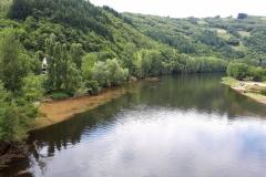 Le Lot à sa confluence avec le Dourdou