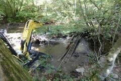 Restauration de la continuité écologique au niveau du Moulin de la Borie, sur la Boralde de Saint-Chély (sept. 2018)