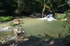 Restauration de la continuité écologique sur le Lot au niveau du Villaret de Balsièges (sept. 2018)